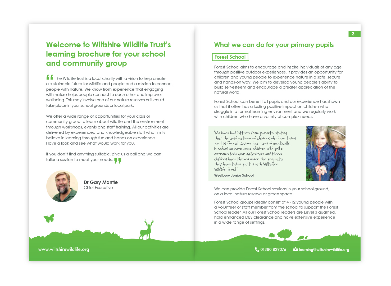 Brochure design for Wiltshire Wildlife Trust - The Brand