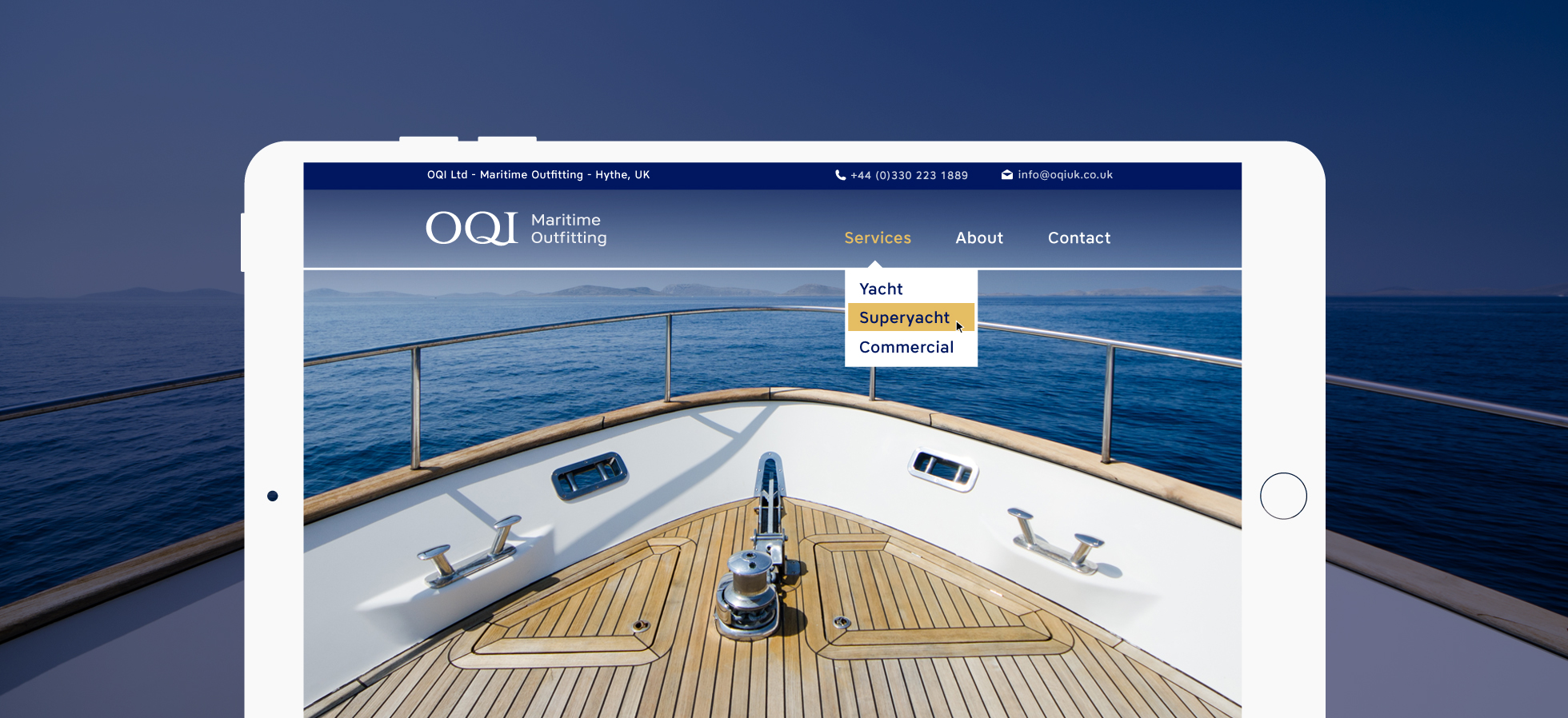 Brand Identity & Website Design for OQI Southampton